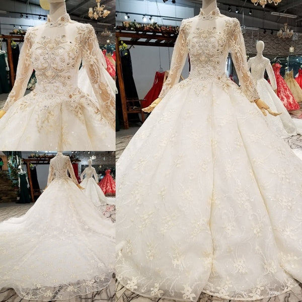 Glitter Fabric Lace Ball Gowns Wedding Dresses 2018 Custom Made Real Photos Corset 3D Flowers Pearls Bridal Gown vestido longo