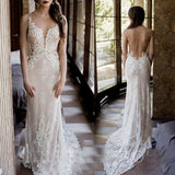 Vintage Beach Wedding Dress Bobo 2019 Lace Mermaid Bride Dress Sexy Backless Long Bridal Gown Robe De Mariee Vestido De Noiva