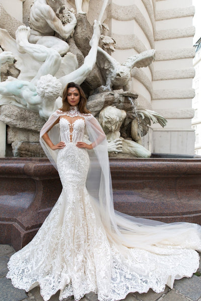 c6c502f9f Eslibe sexy mermaid wedding dress full of lace appliques sleeveless wedding  gown factory wholesale pearls bridal