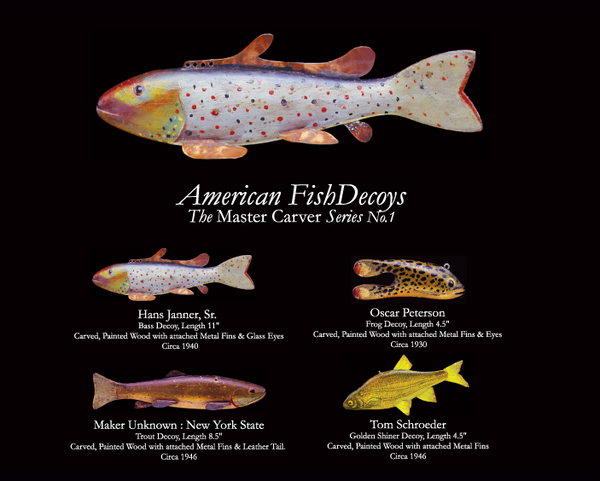 American Fish Decoys Note Cards, Master Series 1