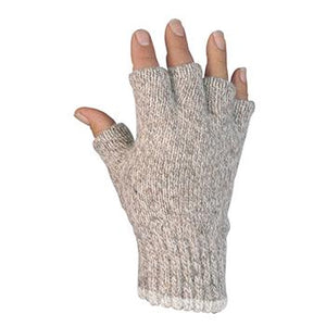 Ragg Wool Half-Finger Glove