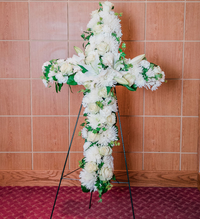 Standing Floral Cross