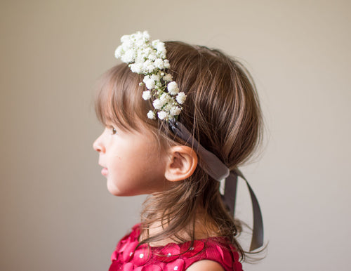 Floral Halo Tieback for Babies