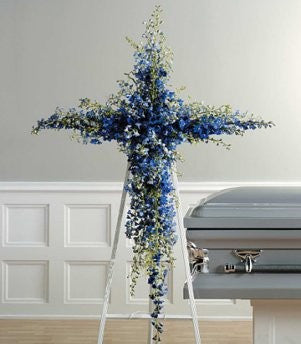 Blue Delphinium Cross SF 26-21