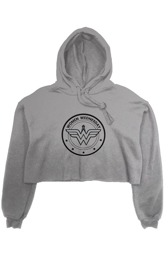 Storm Grey Women Wednesday Crop Hoodie
