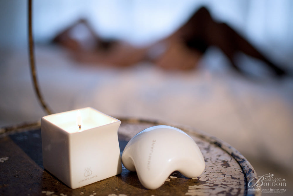 Hot Oil Massage Candle in Bedroom
