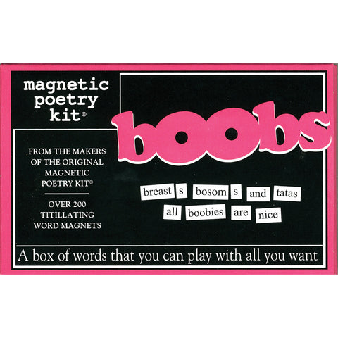 Magentic Poetry Kit: Boobs