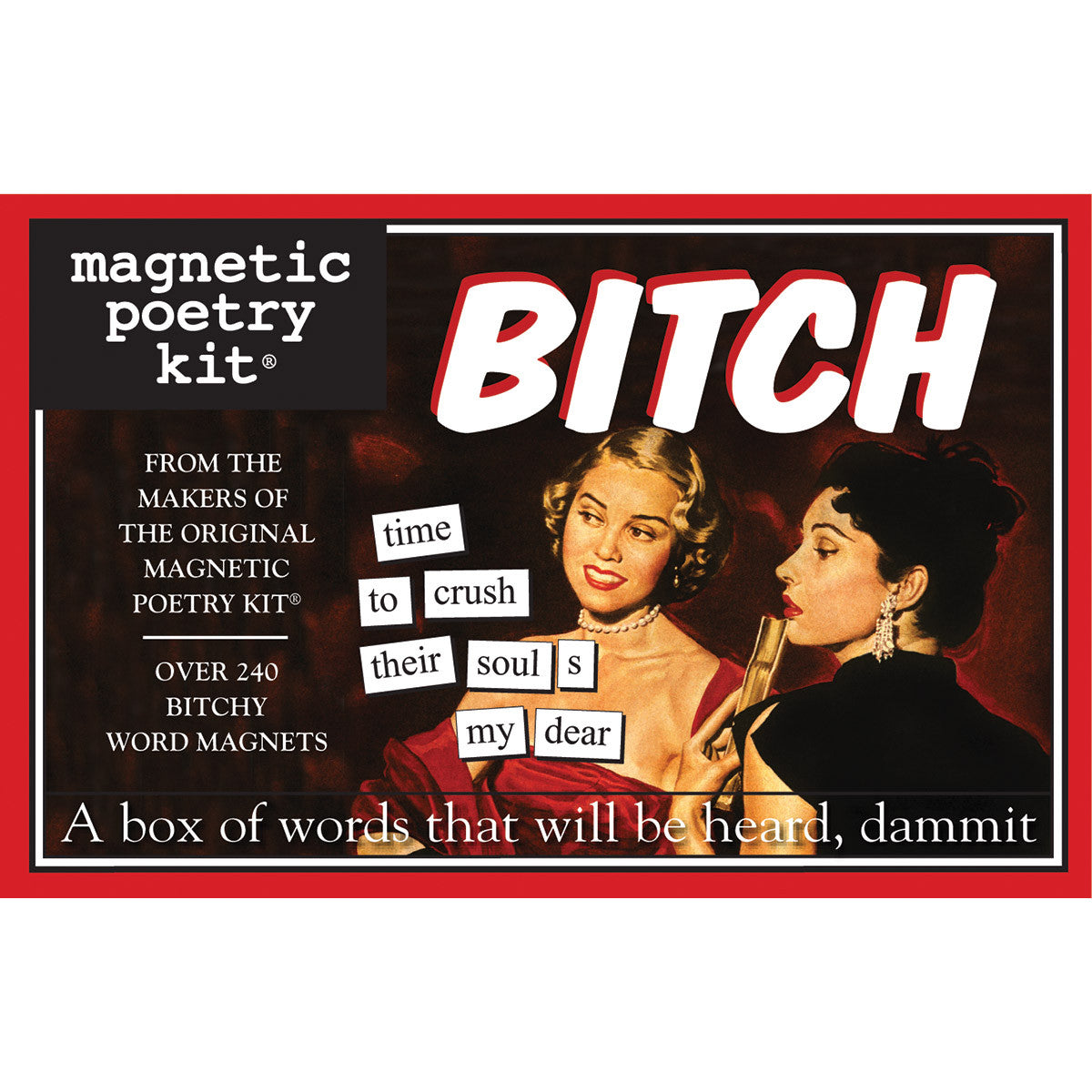 Magentic Poetry Kit: Bitch