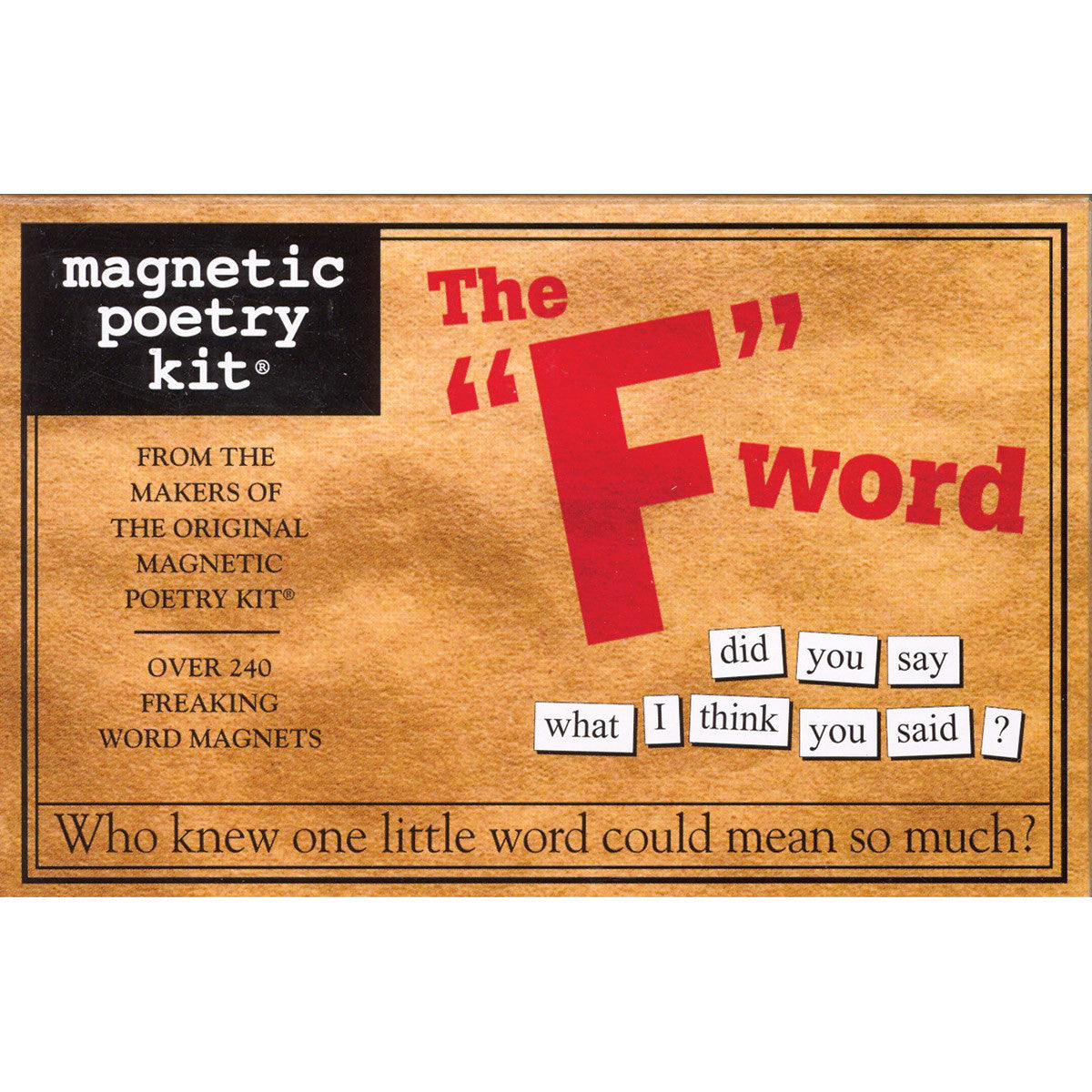 "Magentic Poetry Kit: The ""F"" Word"