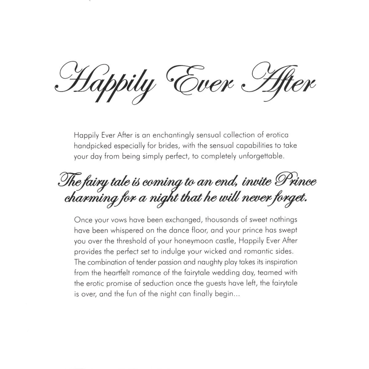 Happily Ever After Bridal Kit White
