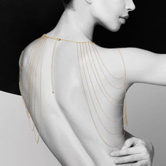 Magnifique Collection Gold Chain Shoulder Jewelry