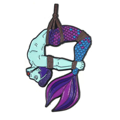 Mermaid/Merman Pin - Aqua/Purple