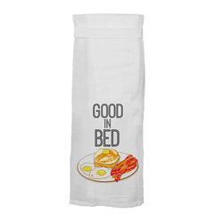 Twisted Wares Good in Bed Flour Towel