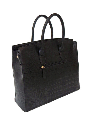 Black Faux Alligator Crocodile Padlock iPad, Tablet or MacBook or MacBook Air 11