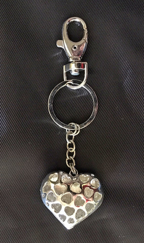 Heart Rhinestone Purse/Trolley Bag Charm