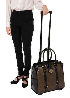 """THE CLEOPATRA"" Rolling iPad, Tablet, or ""15.6"" Laptop Holdall Tote Bag"