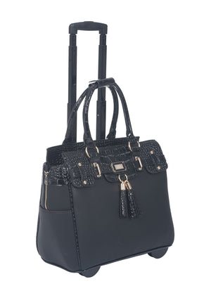 """THE LEXINGTON"" Rolling iPad, Tablet or Laptop Tote Carryall Bag"