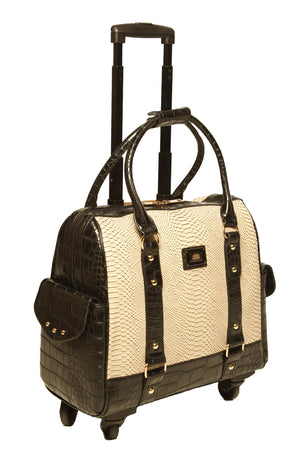 """THE PALO VERDE"" Python Rolling iPad, Tablet or Laptop Holdall Carryall Trolley Bag"