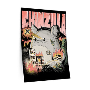 Is showing CHINZILLA | WALL DECAL | Gift For Chinchilla Holders | Chinchillas Owners | Cute Dangerous Rodent | Teenagers & Kids