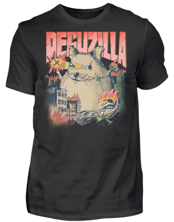 DEGUZILLA | Lustiges Degu-Monster | Herren T-Shirt in Black in Größe S