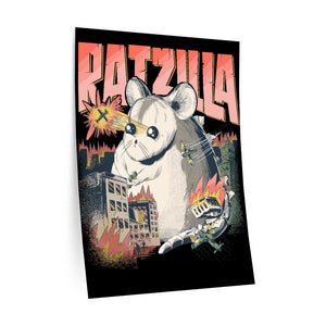 Is showing RATZILLA | WALL DECAL | Gift For Fancy Rats Holders | Pet Rat Owners | Cute Dangerous Rodent | Teenagers & Kids