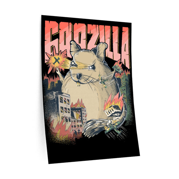 Is showing GOOZILLA | WALL DECAL | Gift For Degu Holders | Octodon Degus Owners | Cute Dangerous Rodent | Teenagers & Kids