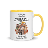 A Wise Man Once Said Dogs | Zweifarbige Tasse