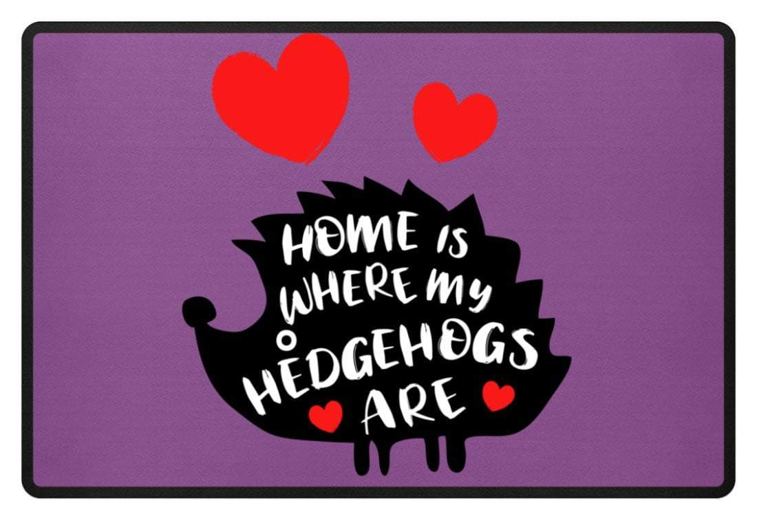Zeigt hedgehogs saying cute pet fussmatte in Farbe Lila
