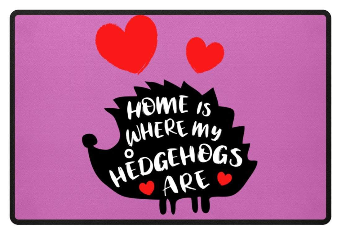 Zeigt hedgehogs saying cute pet fussmatte in Farbe Gelb