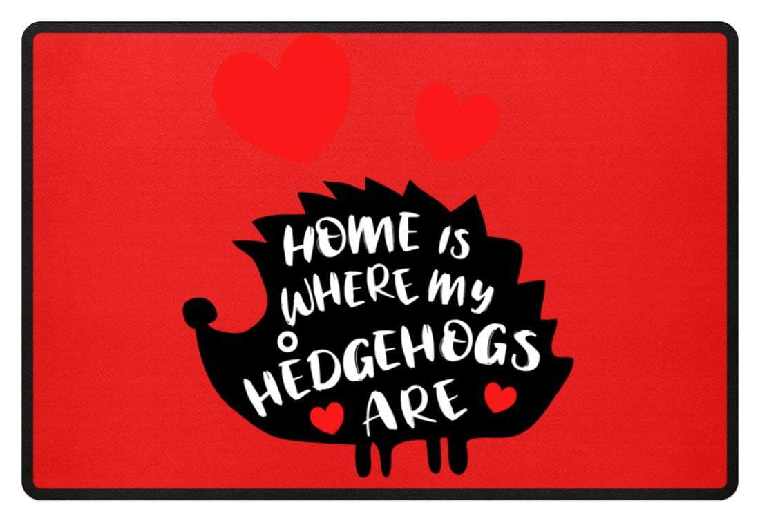 Zeigt hedgehogs saying cute pet fussmatte in Farbe Weiß