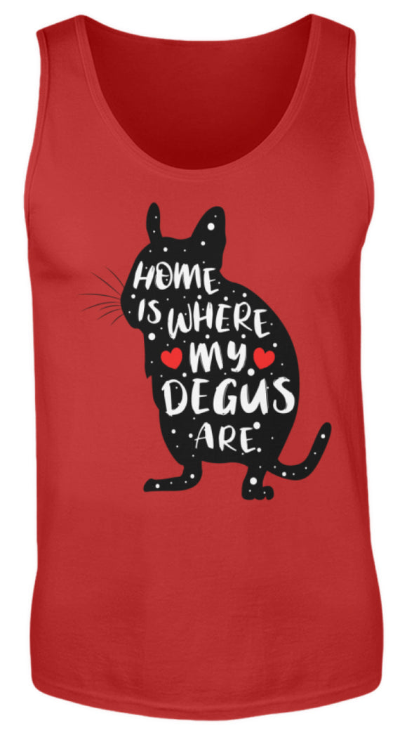 Funny Adorable Degu Saying Rodent | Herren Tank Top in Red in Größe S