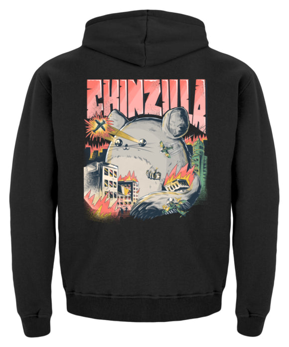 Chinzilla Funny Chinchilla Owners Gift | Kinder Hoodie in Jet Black in Größe 12/14 (152/164)