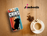 Zeigt chinchillas vintage saying retro stripes for owners of a chinchilla iphone case in Farbe iPhone 7 Plus/8 Plus