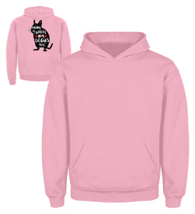 Funny Adorable Degu Saying Rodent | Kinder Hoodie in Baby Pink in Größe 3/4 (98/104)