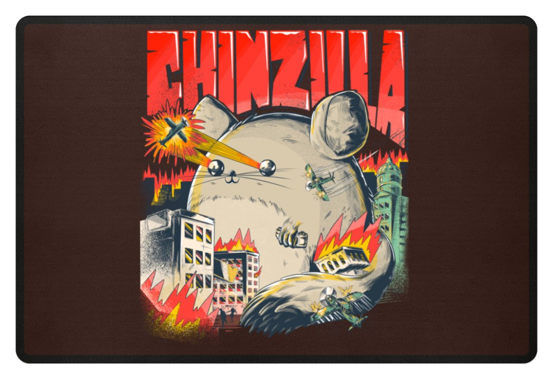 Zeigt chinchillas saying chinzilla fussmatte in Farbe Navy