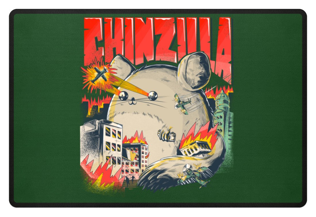 Zeigt chinchillas saying chinzilla fussmatte in Farbe Brown