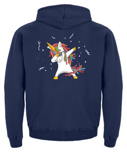 Dab Einhorn | Dabbing Unicorn | Kinder Hoodie in New French Navy in Größe 12/14 (152/164)