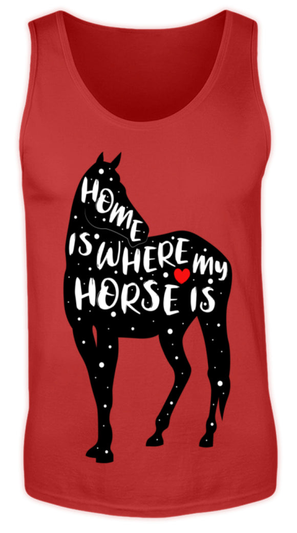 Funny Adorable Horse Saying | Herren Tank Top in Red in Größe S