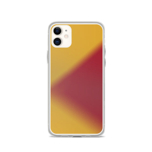 Zeigt Produktbild  Purple Yellow Soft Colors | iPhone Case | Abstract Blurred Triangle | Smartphone Protection (Back) Cover