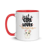 Just A Girl Who Loves Hamsters | Zweifarbige Tasse