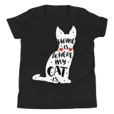 Home Is Where My Cat Is | T-Shirt für Kinder & Jugendliche