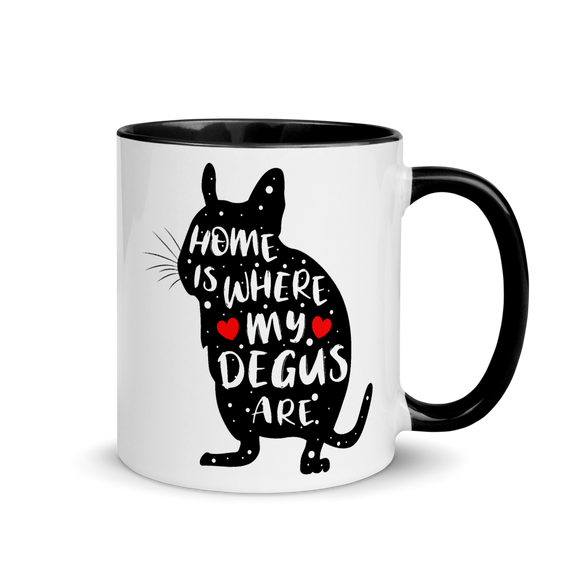Home Is Where my Degus Are | Zweifarbige Tasse
