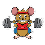 Workout Mouse | Vinyl Aufkleber