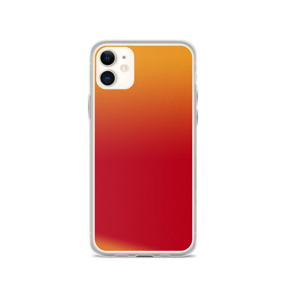 Zeigt Produktbild  Beautiful Red Orange Gradient | iPhone Case | Abstract Pattern Smartphone Protection Case | Gift for her | Back Cover for you Mobile