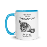 A Wise Woman Once Said Chinchillas | Zweifarbige Tasse