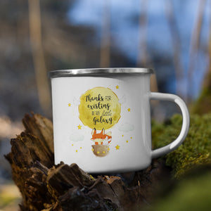 Thanks Fox Ballon | Emaille Tasse