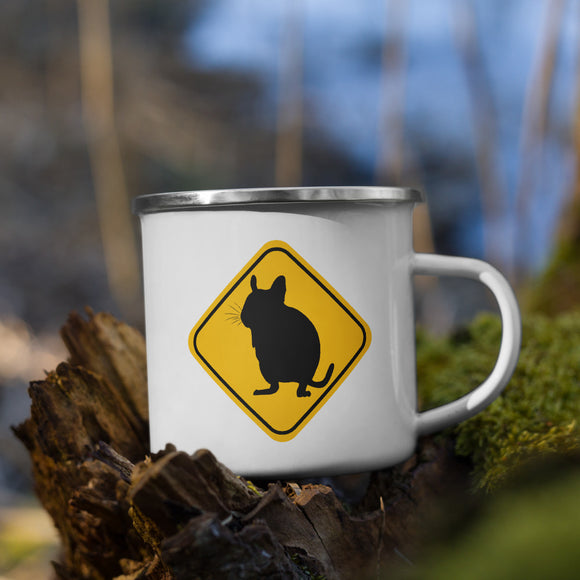 Degu Warning Sign | Emaille Tasse