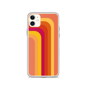 Zeigt Produktbild  Vintage & Retro 70s Style | Color Stripes | iPhone Case | Gift For Retro and Vintage Fans | Smartphone Protection | Version II