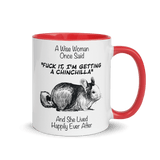 A Wise Woman Once Chinchillas 2 | Zweifarbige Tasse
