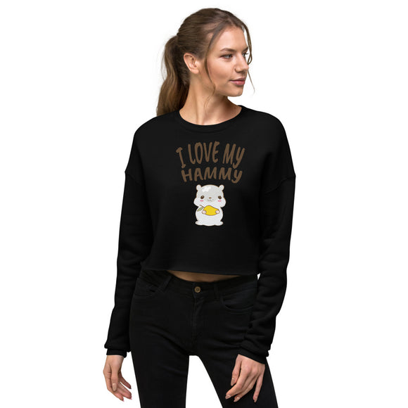 Produktbild zeigt I Love My Hammy | Crop Sweatshirt